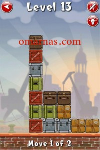 Move the Box Solutions Cheats : Hamburg Level 13 Move the red box, bottom row, left. Move the green box, second row from bottom, left.