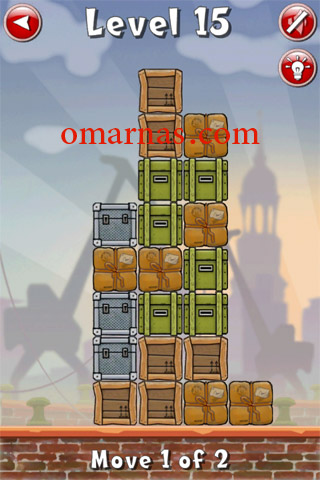 Move the Box Solutions Cheats : Hamburg Level 15 Move the brown box, second row from top, right end, right. Move the same brown box right again.