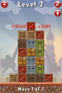 Move the Box Solutions Cheats : Hamburg Level 2 Move the middle brown box, fourth row, down.