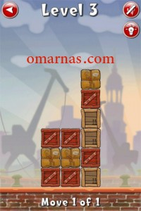 Move the Box Solutions Cheats : Hamburg Level 3 Move the red box, second row from bottom, up.