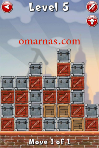 Move the Box Solutions Cheats : Hamburg Level 5 Move the red box, second row from bottom, second box from left, down